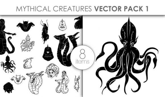 Mythical Creatures Pack 5 Vector packs vector