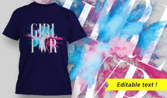 T-shirt design 1649 T-shirt Designs and Templates colorful