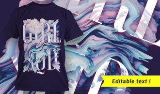 T-shirt design 1652 T-shirt Designs and Templates girl