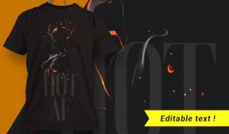 T-shirt design 1657 T-shirt Designs and Templates fire