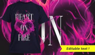 T-shirt design 1659 T-shirt Designs and Templates fire