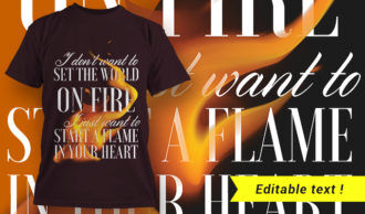 T-shirt design 1662 T-shirt Designs and Templates fire