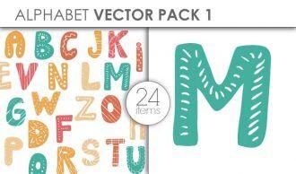 Vector Alphabet Pack 1 Vector packs vector