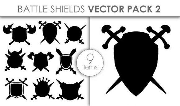Vector Battle Shields Pack 2 Vector packs vector