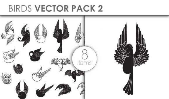 Vector Birds Pack 2for Vinyl Cutter Vector packs vector