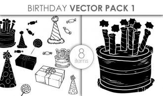 Vector Birthday Set Pack 1 Vector packs vector
