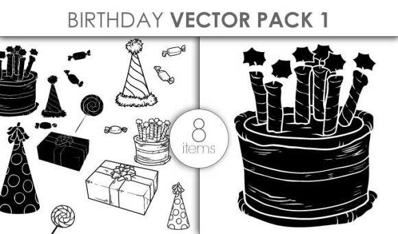 Vector Birthday Set Pack 1 Vector packs vector