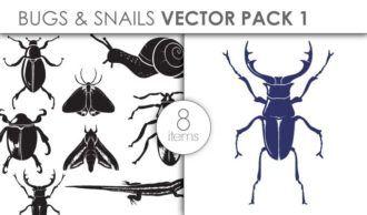Vector Bugs Snails Pack 1 Vector packs vector