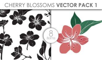 Vector Cherry Blossoms Pack 1 Vector packs vector