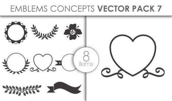 Vector Emblems Pack 7for Vinyl Cutter Vector packs vector