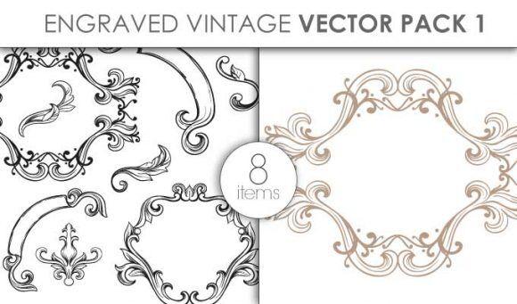 Vector Engraved Vintage Pack 1 Vector packs vector