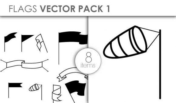 Vector Flags Pack 1for Vinyl Cutter Vector packs vector
