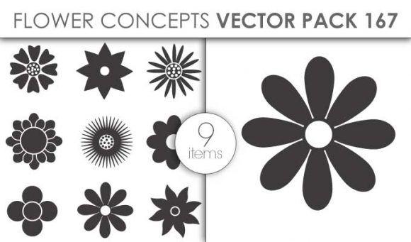 Vector Flower Pack 167for Vinyl Cutter Vector packs vector
