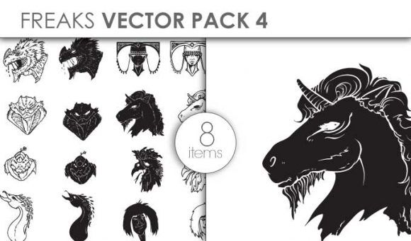 Vector Freaks Pack 4for Vinyl Cutter Vector packs vector