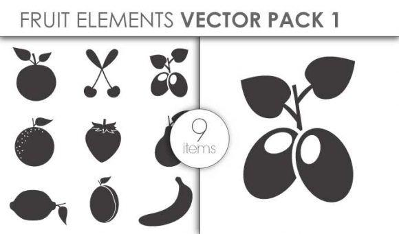Vector Fruits Pack 1 Vector packs vector