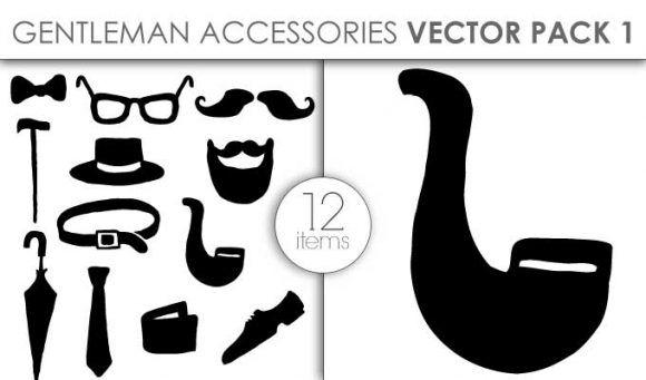 Vector Gentleman Accessories Pack 1 Vector packs vector