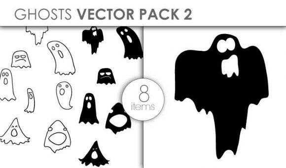 Vector Ghosts Pack 2 Vector packs vector