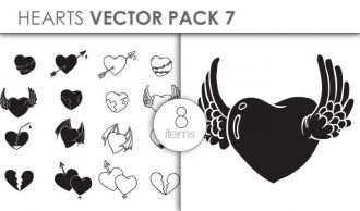 Vector Hearts Pack 7 Vector packs vector