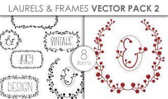 Vector Laurels Frames Pack 2 Vector packs vector