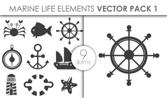 Vector Marine Life Pack 1 Vector packs vector