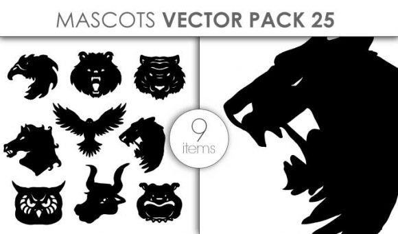 Vector Mascots Pack 25 Vector packs vector