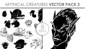 Vector Mythical Creatures Pack 6 Vector packs vector
