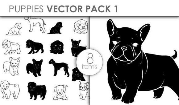 Vector Puppies Pack 1 Vector packs vector