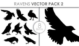 Vector Ravens Pack 2 Vector packs vector