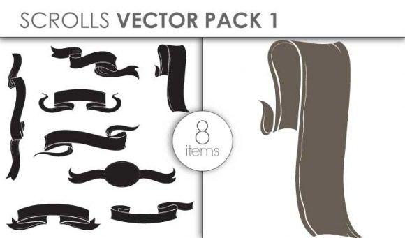 Vector Scrolls Pack 1 Vector packs vector