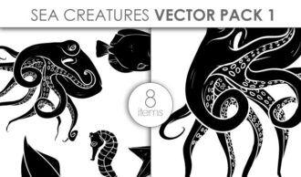 Vector Sea Creatures Pack 1 Vector packs vector