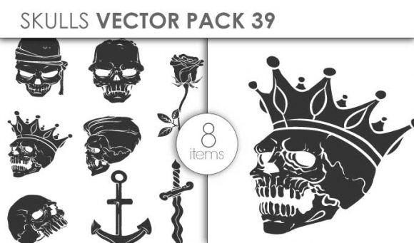Vector Skulls Pack 39 Vector packs vector