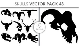 Vector Skulls Pack 43 Vector packs vector