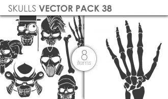 Vector Skulls Pack 46 Vector packs vector