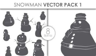 Vector Snowman Pack 27 Vector packs vector