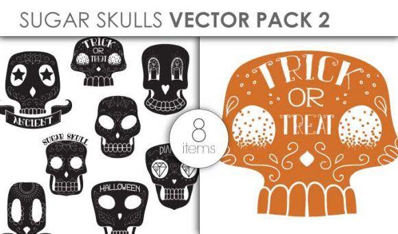 Vector Sugar Skulls Pack 1 Vector packs vector
