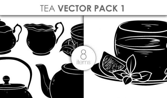 Vector Tea Pack 1 Vector packs vector