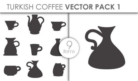 Vector Turkish Coffee Pack 1 Vector packs vector