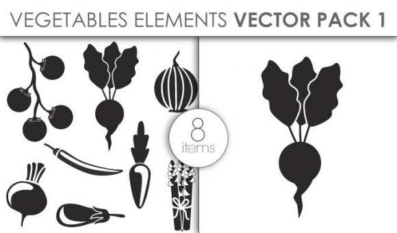 Vector Vegetables Pack 1 Vector packs vector