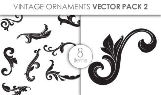 Vector Vintage Ornaments Pack 2 Vector packs vector