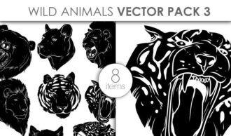 Vector Wild Animals Pack 3 Vector packs vector