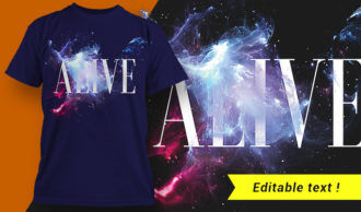 Alive T-shirt Design T-shirt Designs and Templates vector