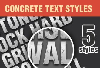Concrete-PS-Text-Styles-Set-1 Addons addon|concrete|style|text