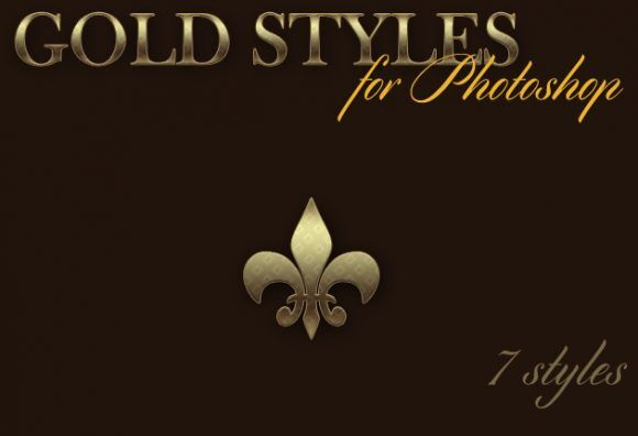Gold-Photoshop-Styles Addons action|Effect|gold|style|text