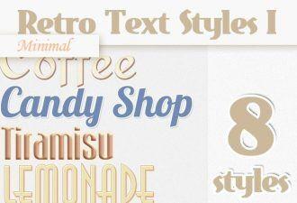 Minimal-Retro-Text-Styles-Set-1 Addons minimal|retro|style|text