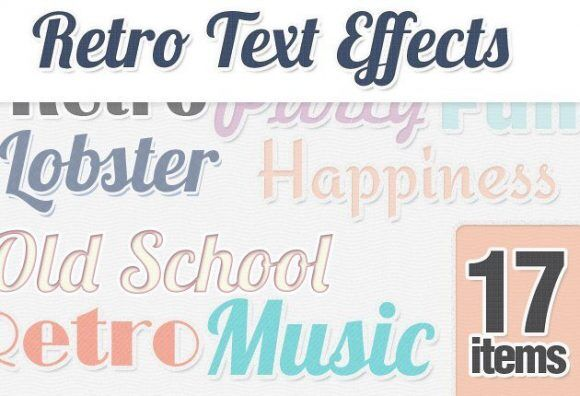 Retro-Text-Styles-for-Photoshop Addons minimal|retro|simple|style|text