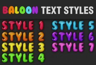 Baloon-Text-Styles-for-Photoshop Addons baloon|graphic|ps|pshotoshop|style|text