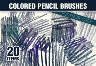 Colored-Pencils-Photoshop-Brushes Addons brush|brushes-2|colored|pencil