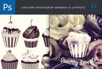Cupcakes-Brushes-Set-1 Addons abr|brush|cupcakes|delicious|quality