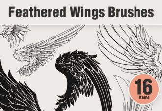 Feathered-Wings-PS-Brushes Addons angelic|bird|brushes-2|feathered|wing