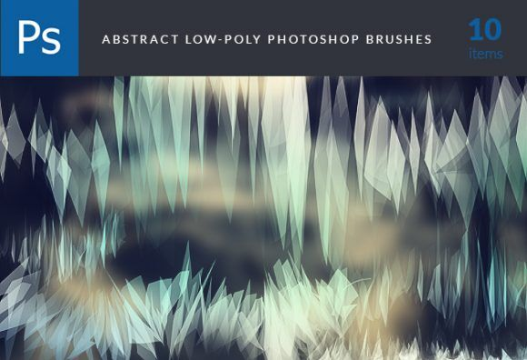Low-Poly-Brushes-Set-1 Addons abr abstract brush eclectic Editor's-Picks-–-Brushes low-poly